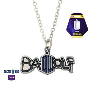 Doctor Who Zinc Alloy Bad Wolf Necklace